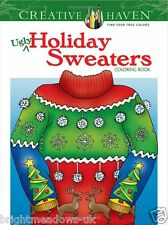 Holiday Christmas Sweaters Adult Colouring Book Creative Art Therapy Relax