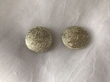 Vintage Coro Magic Magnetic Earrings Round Textured Goldtone