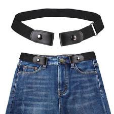 Taille  110 cm. Ceinture élastique noire sans boucle unisexe pour pantalons  jeans robe stretch 174b3c986ef