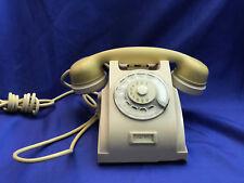 VINTAGE MODERNARIATO TELEFONO TELEPHONE  FISSO BACHELITE BICOLORE PERFETTO