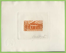 More details for ivory coast 1974 35f grand-lahou post office sunken die proof essay