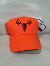 Realtree Size Matters Buck Skull Camouflage Q3 Neon Orange Hunting Camo Hat Cap