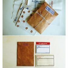 50Pcs Brown Craft Kraft Paper Envelope Retro Envelopes Letter# Invitation N9N8
