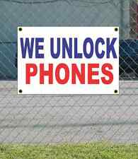 2x3 WE UNLOCK PHONES Red White & Blue Banner Sign NEW Discount Size & Price