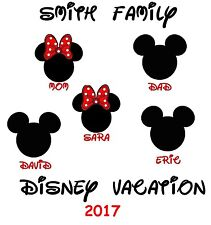 GREAT DISNEY VACATION MINNIE MICKEY MOUSE PERSONALIZED SHIRT IRON ON TRANSFER