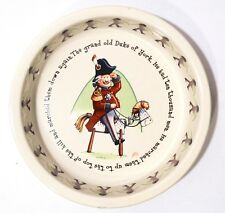 Anderton 1890 Pottery Child's Bowl and Plate - Toy Soldiers Theme - England