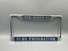 Authentic  USED CHP 11-99 FOUNDATION LICENSE PLATE FRAME