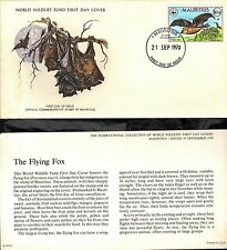 MAURITIUS 1978 FIRST DAY COVER WITH CARDS - WORLD WILDLIFE FUND - ANIMALS
