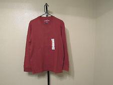 NWT Eddie Bauer Mens Crew Neck L/S T Shirt-Color-Spice-Size-Large-Retail-$20.00