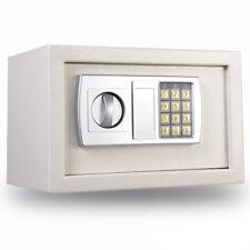White Digital Electronic Safe Box Keypad Lock Home Office Hotel Gun Cash Jewery