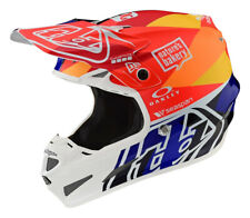 Troy Lee Designs TLD SE4 Comp Jet Orange Navy MIPS Motocross Race Helmet Adults