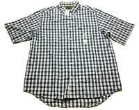 Timberland New Mens Blue Plaid Front Pocket Button Front Shirt Size XL