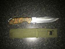 Military Knife Camo U.S.A. 11 inches, Blade is 6 1/4 MANTRACK marking
