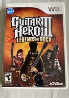 Guitar Hero III 3 Legends of Rock Nintendo Wii Game Complete With Case & Manual