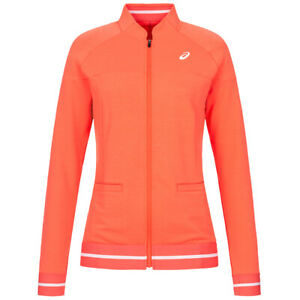 ASICS Club Knit Damen Tennis Jacke Sportjacke 122774-0552 Gr. S orange neu