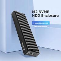 ORICO Type-C M.2 NVME SSD Enclosure USB3.1 10Gbp Drive External Drive Box Case