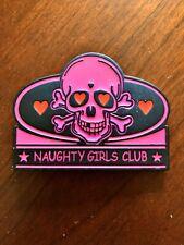 Naughty Girls Club Sexy Pink Skull Crossbones Heart Metal Women's Belt Buckle