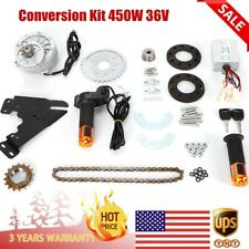 450W 36V E-bike Motor Kit Electric Multiple Speed Bicycle Conversion Kit US New