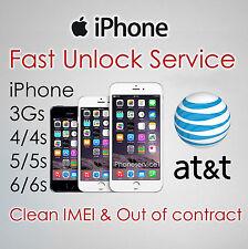 FACTORY UNLOCK CODE FOR AT&T ATT IPHONE 3 4 4S 5 5S 6 6+ 6S Plus SE 7 7+ 7 Plus