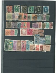BRAZIL  LATIN  AMERICA COLLECTION POSTAL USED Unchecked STAMPS LOT (BRAZ 82)