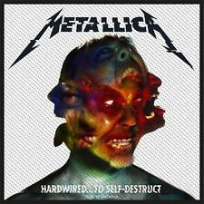 OFFICIAL LICENSED - METALLICA - HARDWIRED TO SELF DESTRUCT SEW ON PATCH METAL
