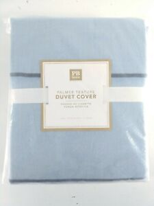Pottery Barn Teen Palmer Duvet Cover Twin Textured Blue Stripes New