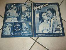 N.2 FILM MAGAZINE,1947,IL SEGNO DI ZORRO,The Mark of,Signe,TYRONE POWER,DARNELL