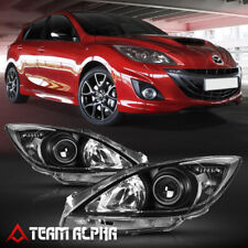 Fits 2010 2013 Mazda 3 Mazda3 Blackclear Crystal Corner Projector Headlight Fits Mazda 3