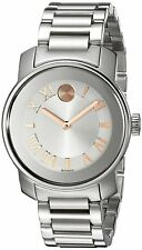 Movado Women's 3600244 Bold 32mm Stainless Steel Silver Roman Dial Watch