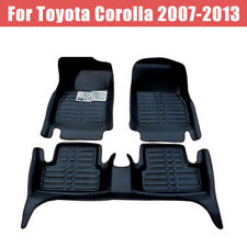 For Toyota Corolla 2007 2013 Floor Mats Frontamprear Liner Leather Waterproof Mat Fits 2012 Toyota Corolla