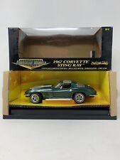 1:18 ERTL American Muscle 1967 Corvette Sting Ray Green 32270