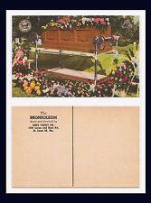 ADVERTISING FUNERAL CASKET VAULT THE BRONZOLEUM BERG VAULT ST LOUIS 20, MISSOURI