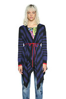 DESIGUAL NWT $129 Zen Asymmetrical Belted Cardigan Sweater Top Size Large