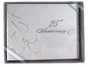 Hortense B. Hewitt Co 25th Anniversary Guest Book Silver