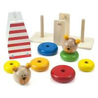 Tooky Bear Balance Stacker Wooden Ring Bears Educational Toy