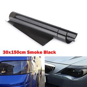 30 x 150cm Tint Film Headlights Tail lights Car Vinyl Wrap Light Smoke Black