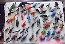Lot (56) Plastic Dinosaur Action Figures Some Name Stamped Prehistoric Animal