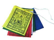 HANDMADE MINI MEDICINE BUDDHA PRAYER FLAGS SET OF 10 FLAGS