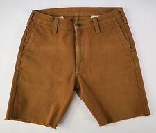IRON HEART Japan Dark Tan Cotton Denim Jeans Jean Shorts 32 Waist