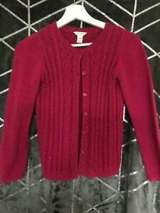 MONSOON GIRLS CARDIGAN FUSHIA PINK COLOUR AGE 11-12 EXCELLENT CONDITION