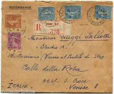 "FRANCE, REGISTERED FROM LYON, 1931, 5 STAMPS ""SOWER""         m"