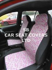 TO FIT A TOYOTA YARIS CAR, SEAT COVERS, PINK PAISLEY - FULL SET