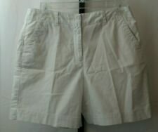 Talbots Petites Stretch White Shorts Women's Size 8 Pockets