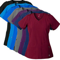 MG SuperFlex Scrubs Top with Shoulder Tab Detail in Dobby 4-way Stretch Fabric