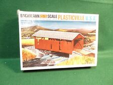 Vintage Bachmann Plasticville USA O-S Scale Covered Bridge Kit # 1920 Sealed Box