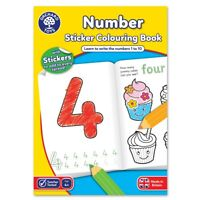 Orchard Toys CB03 Number Colouring Activity Sticker Book 24 Page Children 4 yrs+