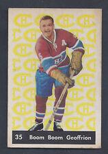1961 Parkhurst #35 Boom Boom Geoffrion Montreal Canadiens VG-EX Plus