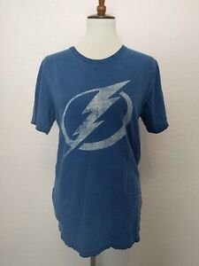 Tampa Bay Lightning Fanatics Fan T-Shirt Logo Vintage Wash Unisex Size Small
