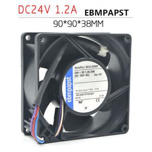 EBM PAPST 3214J/2H3F 9038 24V 1.2A 29W 4-pin double ball inverter fan
