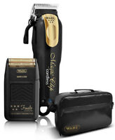 Wahl 5 Star Magic Clip Black/Gold Cordless Clipper+Finale Shaver Lithium Ion+Bag